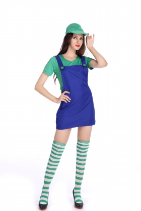 Green Super Mary Costumes for Carvinal 22593-1