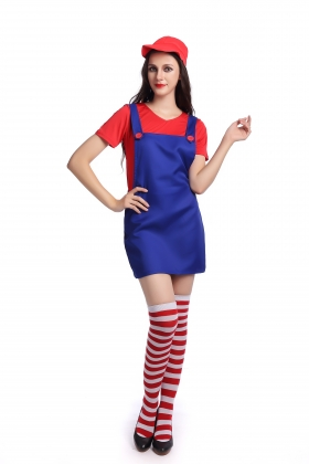 Red Super Mary Costumes for Carvinal 22593-2