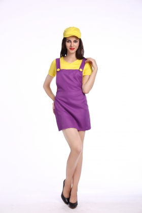 Yellow Super Mary Costumes for Carvinal 22593-3