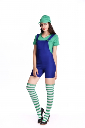 Green Super Mary Costumes for Carvinal 22594-1