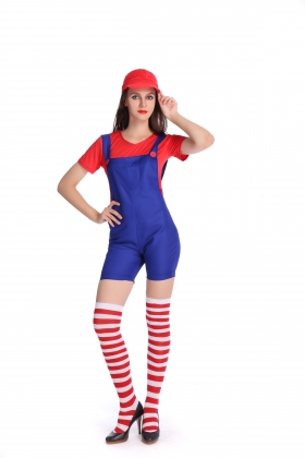 Red Super Mary Costumes for Carvinal 22594-2