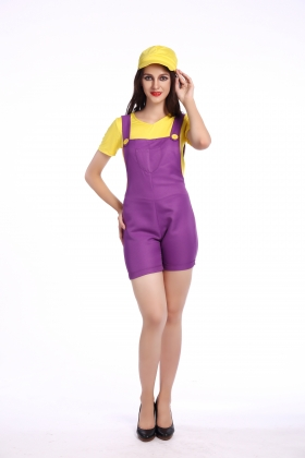 Yellow Super Mary Costumes for Carvinal 22594-3
