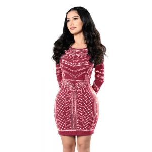 Sexy Printed Bodycon Dress 23367-5