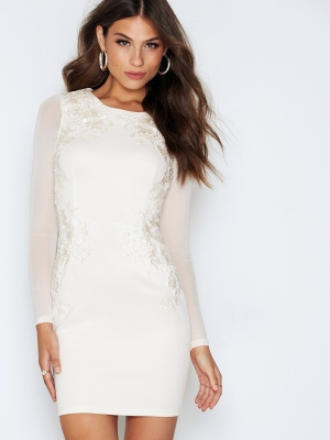 Sexy White Applique Short Party Dress 23576-1