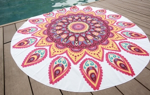 Mandala Tapestries Chiffon Round Beach Towel 21119-8