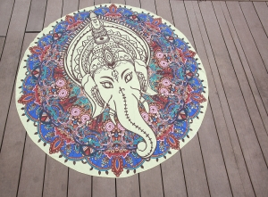 Gypsy Mandala Chiffon Fabric Round Beach Throw Tapestry 21119-10