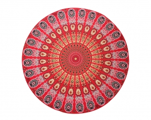 Indian Mandala Polyester Fabric Round Beach Towel 21120-6