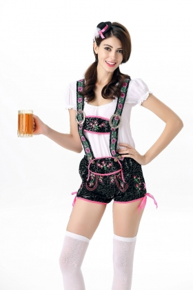 Party Night Cosplay Beer Girl Sexy Costumes 21778