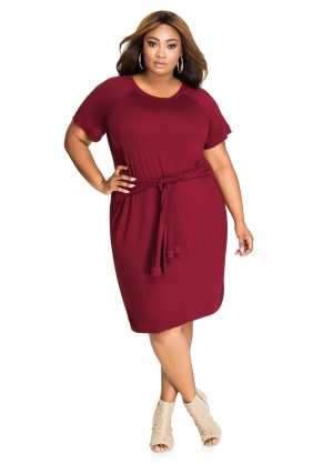 Plus Size Pure Dress 27189-2