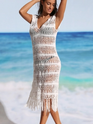 Long Fringe Beach Cover-ups