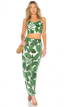 Honeymoon Two-Piece Print Pants Set