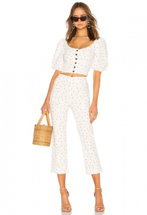Honeymoon Two-Piece Dotty Pants Set
