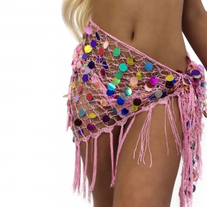 Sequins Tassels Cover-Up