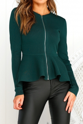 Fit and Flare Long Sleeve Blazer