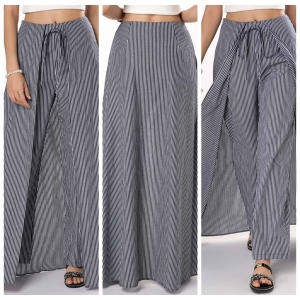 Strippes Maxi Skirt with Pants