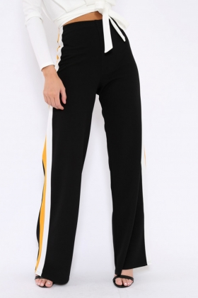 Blank Casual Pants with Contrast Bands