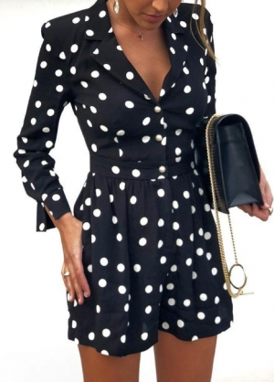 White and Black Dot Formal Rompers