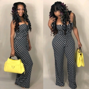 Sexy Strapless Polka Dot Jumpsuit