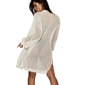 Long Sleeve Knitted Cover-Up