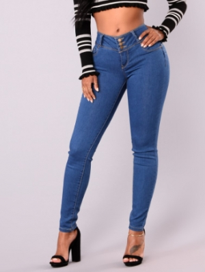 Middle Waist Sexy Curvy Jeans