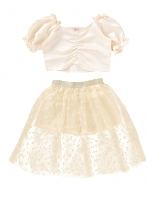 Kids Girl Summer Party Top and Skirt Set